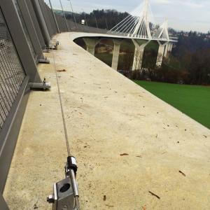 VERTIC's ALTILIGNE horizontal lifeline system - Pont de la Poya's bridge in Switzerland