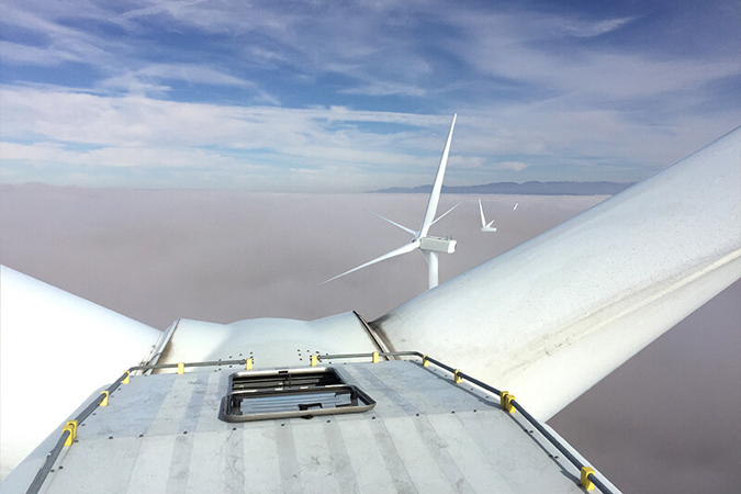 VERTILIGNE on windmills for safety access