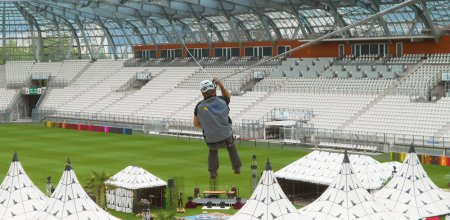 Aerial view of the Parc des Princes - Stadiums & Events VERTIC