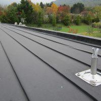 BATILIGNE horizontal lifeline system on zinc roofing