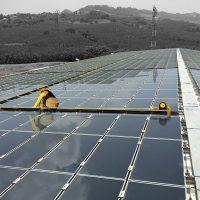 BATILIGNE horizontal lifeline system on photovoltaic
