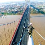 VERTIC's COMBILIGNE inclined lifeline system on the Aquitaine's bridge